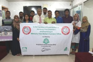 An Undisputed Leader of Bangladesh Dental Society got recognition for practicing 'Mercury-Free Dentistry'
