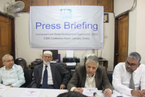 ESDO organized a press briefing on- 'Online Selling of Illegal Mercury-laced Skin Lighteners: Growing Health Risk in Bangladesh'